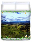 View And Inca/canari Ruins On Cojitambo II Duvet Cover