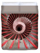 View Down The Steel Double Helix Spiral Staircase At The Ljublja Duvet Cover