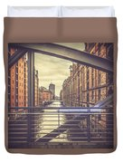 View From A Bridge Duvet Cover