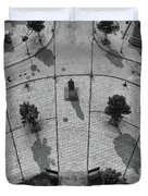 View From A Church Tower Monochrome Duvet Cover