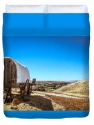 View From A Sheep Herder Wagon Duvet Cover
