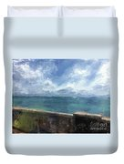 View From Bermuda Naval Fort Duvet Cover