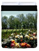 View From Bridlewood Vineyards Duvet Cover