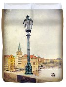 View From Charles Bridge Duvet Cover