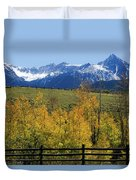 View From Hwy 62, Ouray County, Co Duvet Cover