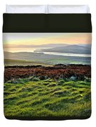 View From Grianan Fort Duvet Cover