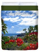 View From Keauhou Kona Duvet Cover