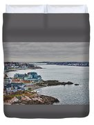 View From Marblehead Lighthouse Duvet Cover