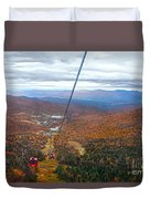 View From Mount Mansfield In Autumn Duvet Cover