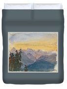 View From Mount Pilatus Duvet Cover