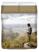 View From Mt Zeehan Tasmania Duvet Cover