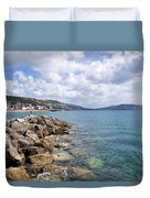 View From North Wall - Lyme Regis Duvet Cover