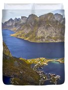 View From Reinebringen Duvet Cover