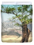 View From Ronda Spain Duvet Cover