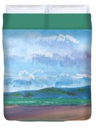 View From Sandy Bay Exmouth Duvet Cover