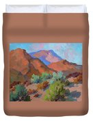 View From Santa Rosa - San Jacinto Visitor Center Duvet Cover