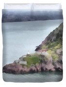View From Signal Hill Duvet Cover
