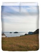 View From St Helen's Oratory Cape Cornwall Duvet Cover