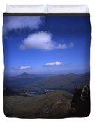 View From Summit Of Ben Arthur The Cobbler  Towards Loch Long Arrochar Loch Lomond And Ben Lomond Duvet Cover