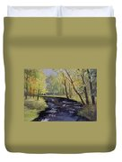 View From The Covered Bridge Duvet Cover