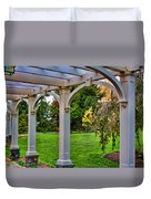 View From The Garden Way Duvet Cover