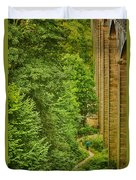 View From The Lllangollen Aqueduct In Wales Duvet Cover