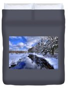 View From The North Street Bridge Duvet Cover
