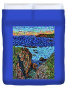 View From The Pacific Coast Highway Duvet Cover