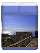 View From The Top In Sicily Duvet Cover