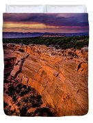 View From Upper Ute Canyon, Colorado National Monument Duvet Cover