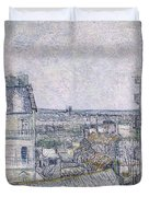 View From Vincent's Room In The Rue Lepic Duvet Cover