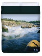 View From Whitewater Kayak At The Top Duvet Cover