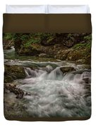 View In Vintgar Gorge #2 - Slovenia Duvet Cover