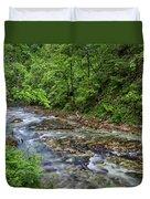 View In Vintgar Gorge - Slovenia Duvet Cover