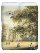 View Of A Churchyard, Southborough, Kent Duvet Cover