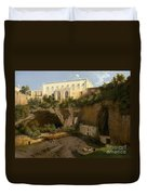 View Of A Villa, Pizzofalcone, Naples Duvet Cover