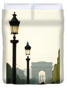View Of Arc De Triomphe Duvet Cover