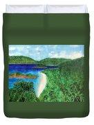 View Of Beach In St John Us Virgin Islands  Duvet Cover