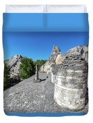 View Of Becan, Mexico Duvet Cover