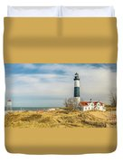 View  Of Big Sable Point Michigan Duvet Cover