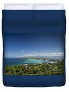 View Of Boracay Island Tropical Coastline In Philippines Duvet Cover