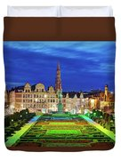 View Of Brussels From Jardin Du Mont Des Arts Duvet Cover by Barry O Carroll