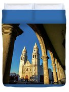 View Of Cathedral And Arches Duvet Cover