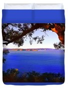 View Of  Central Coast From West Head  Duvet Cover