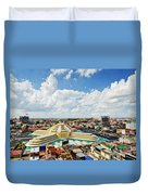 View Of Central Market Landmark In Phnom Penh City Cambodia Duvet Cover
