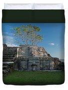 View Of Cerros Maya Ruins At Cerros Duvet Cover
