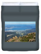 View Of City From Mountain Top Duvet Cover