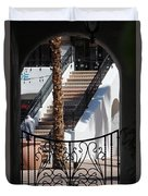 View Of Courtyard Through Adobe Doorway Photograph By Colleen Duvet Cover