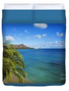 View Of Diamond Head Duvet Cover