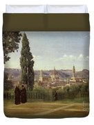 View Of Florence From The Boboli Gardens Duvet Cover
